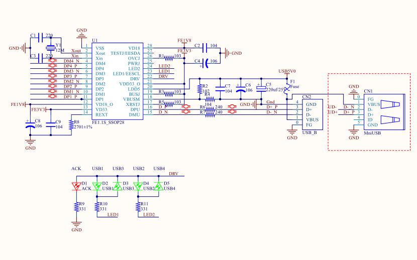 多用調試器的電路原理圖和PCB源文件合集免費下載