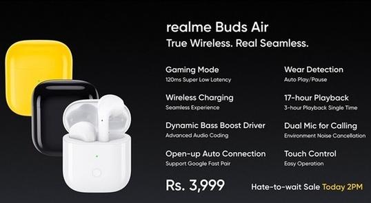 realme推出了旗下首款真无线耳机realme...