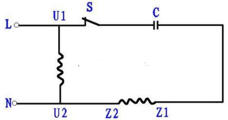 單相異步電動機正反轉電路圖