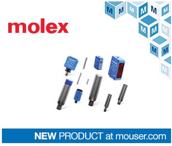 貿澤備貨Molex Contrinex工業4.0感應和光電傳感器