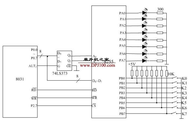 8031单片机点亮�发江苏快3光二极管的设计