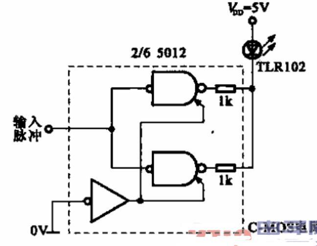 集成电路驱动的发光二极管显示电路