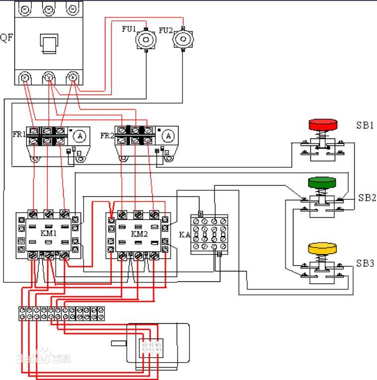 雙速電機正反轉接線圖