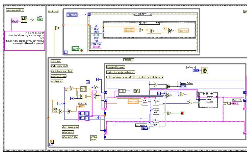 使用LabVIEW实现贪吃蛇的详细工程文件资料合集免费下载