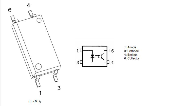 TLP383低输入高隔离型光电耦合器的数据手册免费下载