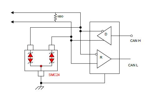 CAN接口静电保护方案的详细资料说明