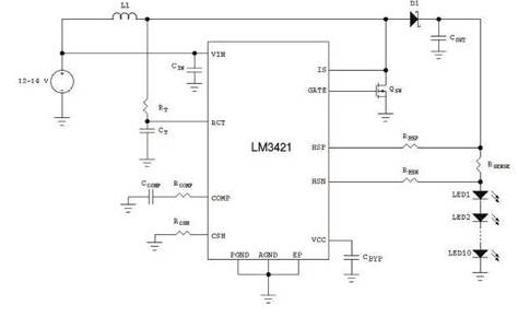 汽車電子系統的LED大燈驅動設計