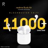 realme在印度发布首款TWS耳机 1小时售出11000台