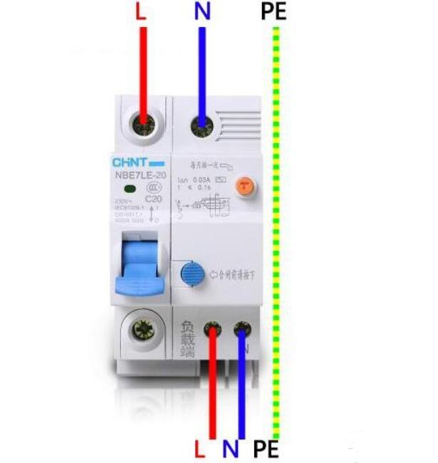 3芯电缆漏电开关如何接线