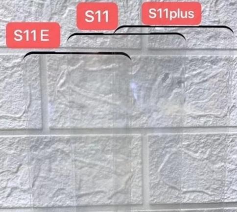 三星S11系列钢化膜曝光该机上下边框非常窄可以忽...