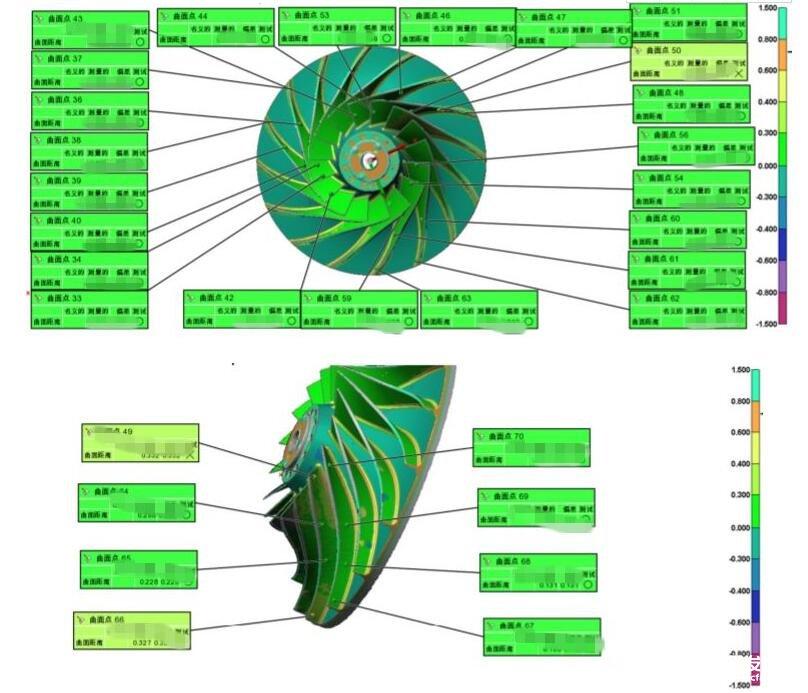 三维扫描仪的叶片工业检测流程