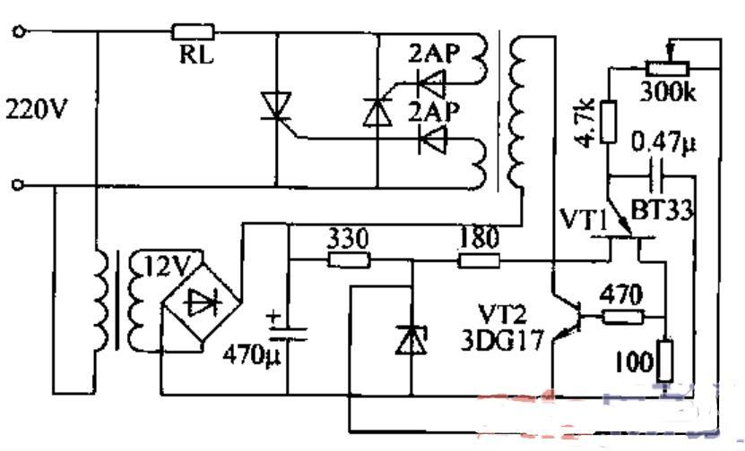 晶闸管构成的舞台灯光调节器电路