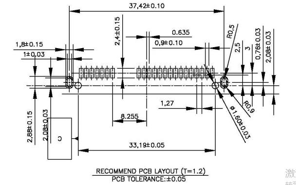 SATA7+15P H4.2母座板下型SMT的规格原理图免费下载