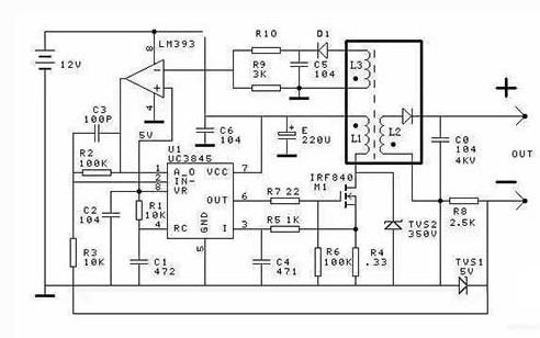 一个开关电源式高耐压恒流源的电路图说明