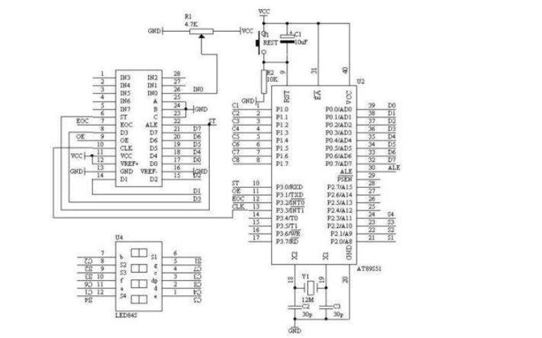 使用ADC0808设计的调温报警器仿真电路图免费下载