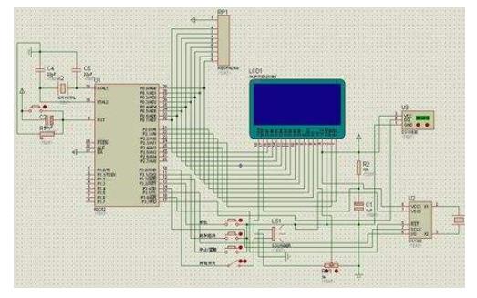 使用DS1302和12864LCD设计的可调式中文电子日历的仿真原理图免费下载