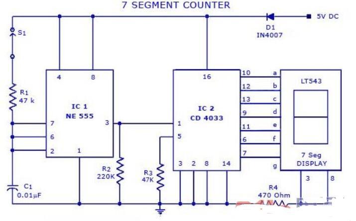 七段計數器電路圖