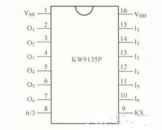 KW9135P电子开关典型应用电路