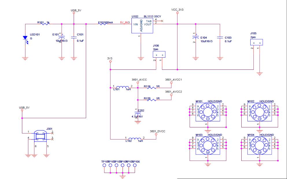 LMV358二路通用运算放大器评估板的电路原理图免费下载