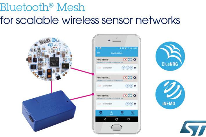 意法半导体解锁Bluetooth?Mesh全功能 赋能可扩展的无线传感器网络
