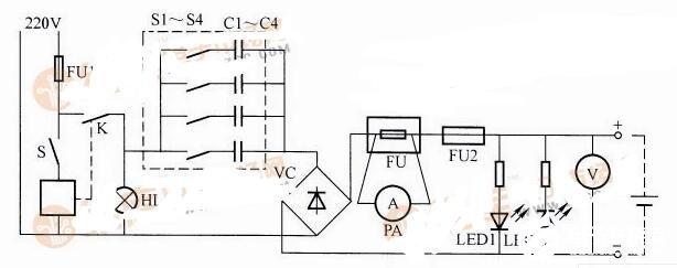 铅酸蓄电池充电器电路图
