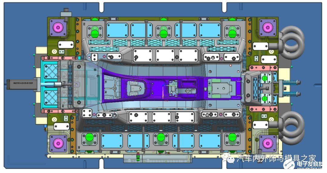 汽车副仪表板塑件结构解析