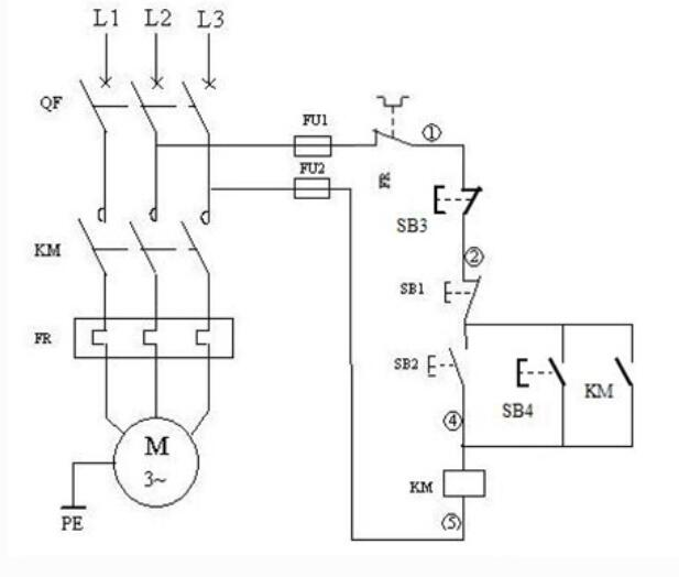 電動機2地控制電路圖