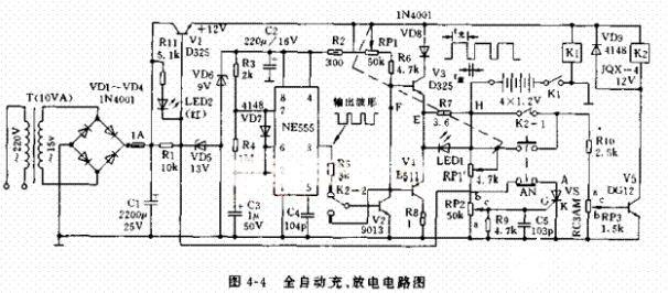 全自动充放电电路工作原理及电路图