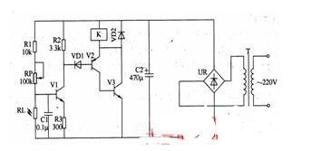 光控安全开关电路的工作原理