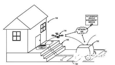 亞馬遜申請專利 實現自動駕駛送貨