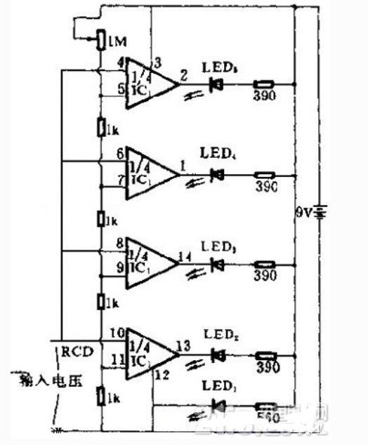 发光二极管电压测量电路