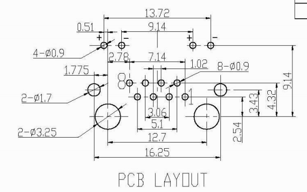 RJ45 90度插板式16MM長帶LED燈RJ45網絡接口的規格原理圖免費下載