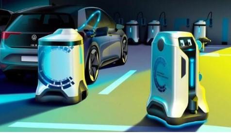 大众为电动汽车推出充电机器人概念原型,将加速停车...