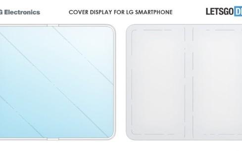 LG带有显示屏的保护壳,可折叠在手机上的平板电脑?