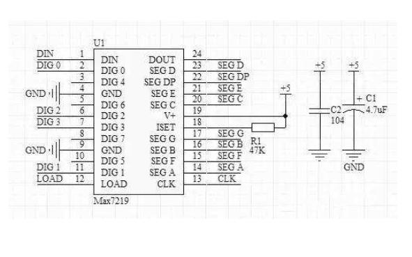 数码管显示的温控电机仿真电路图免费下载