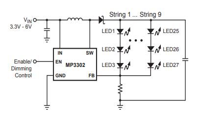 MP3302升壓轉換器芯片的數據手冊免費下載