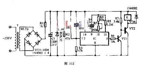 可調定時(shi)器電(dian)路圖