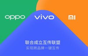 OPPO与小米和vivo三家手机厂商共同成立了互传联盟