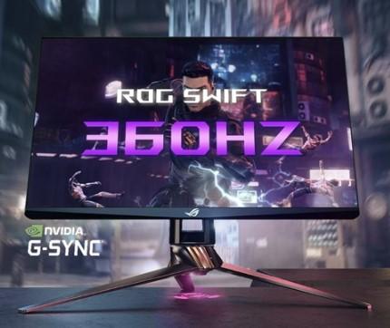 华硕展示360Hz游戏显示器,采用Nvidia的G-Sync技术