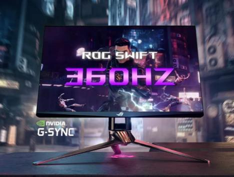华硕推出了世界上首款采用G-Sync技术的360Hz显示器