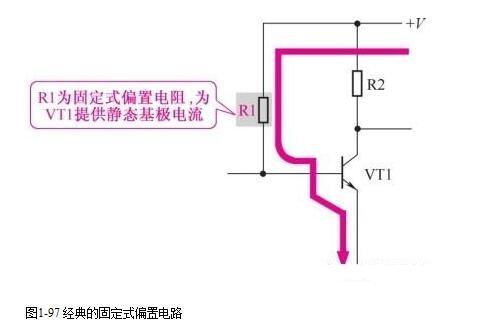 4种三极管固定式偏置电路