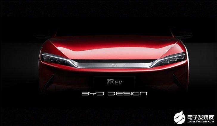 比亚迪汉前脸和侧身图公布,全球量产车顶级水平预计...
