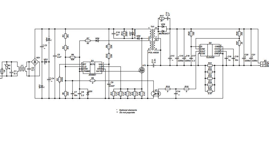 AN9961DB2独立LED驱动程序演示板