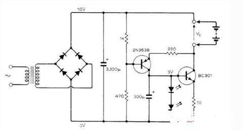镍镉电池充电器电路图