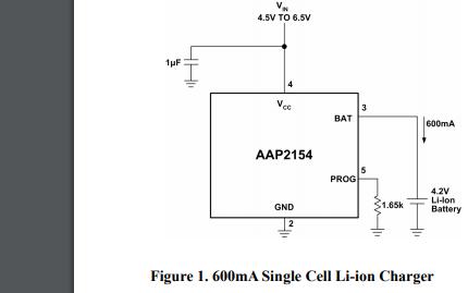 AAP2154单节线性锂电池充电管理IC的数据手册