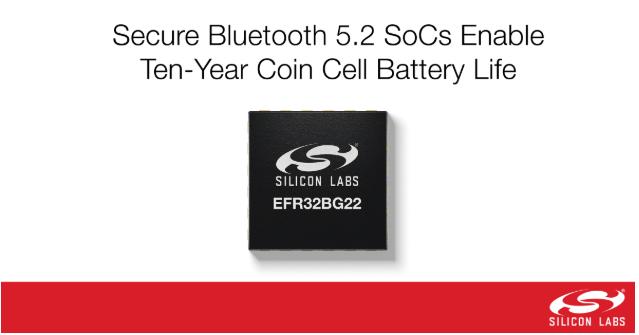 新型安全藍牙5.2 SoC助力紐扣電池供電產品工作可達十年