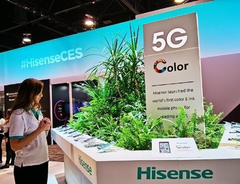 海信推出了一款采用E-ink彩色墨水屏制作工艺的水屏手机