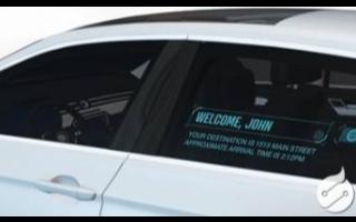 新型汽车技术的汽车透明车窗显示有望实现人车沟通和广告