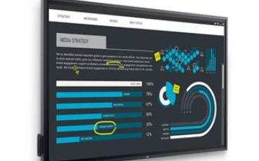 戴尔推出C8621QT 4K显示器,85.6英寸支持20点触控