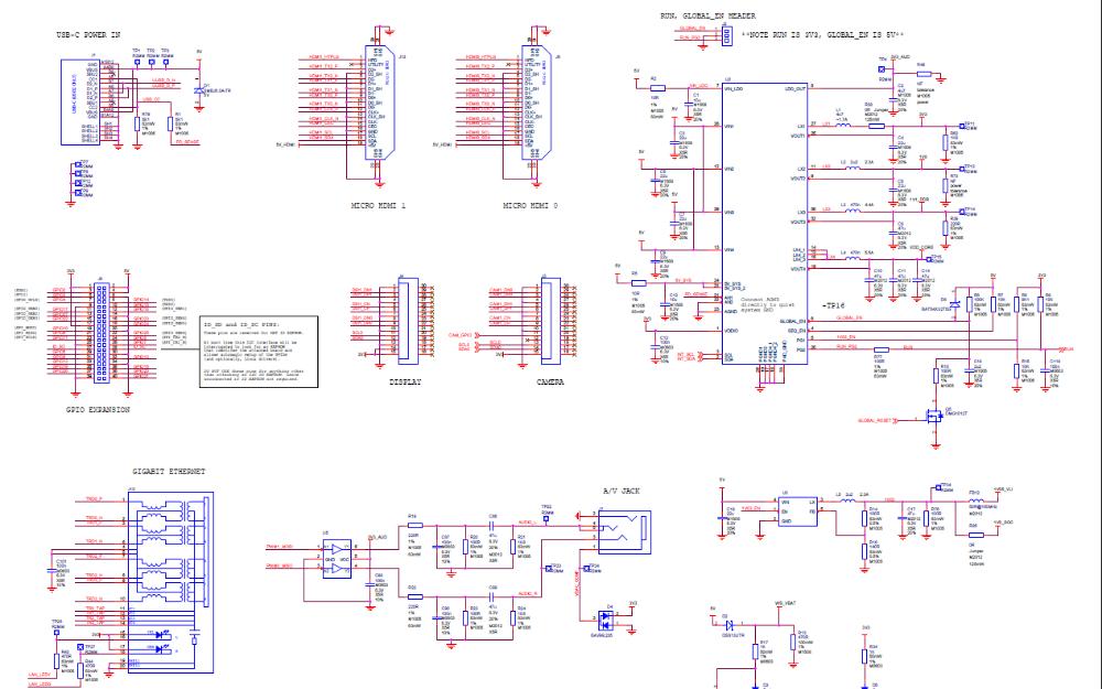 树莓派Raspberry Pi 4 Model B的电路原理图免费下载